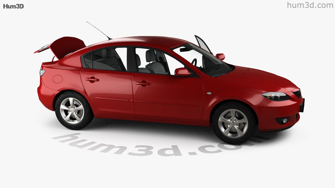 360 View Of Mazda 3 Sedan With Hq Interior 2003 3d Model Hum3d Store Saturn Ion