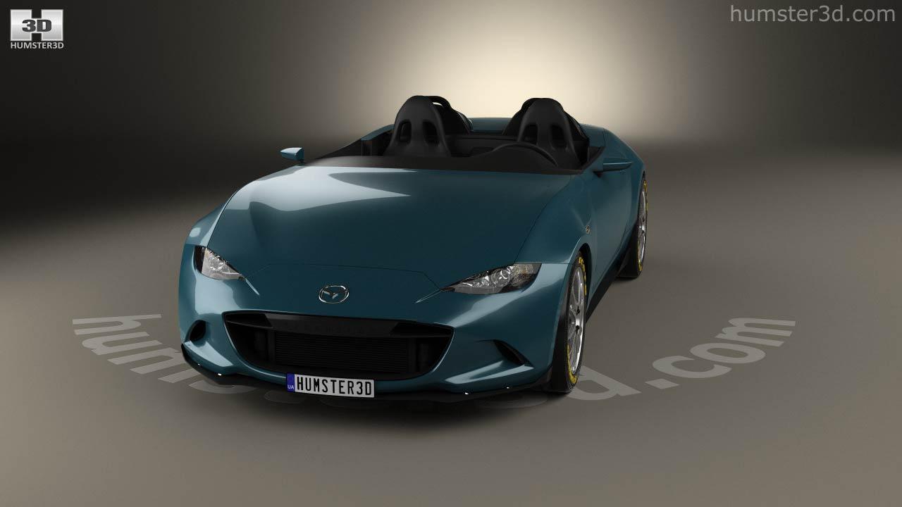 360 view of Mazda MX-5 Spyder 2015 3D model - Hum3D store