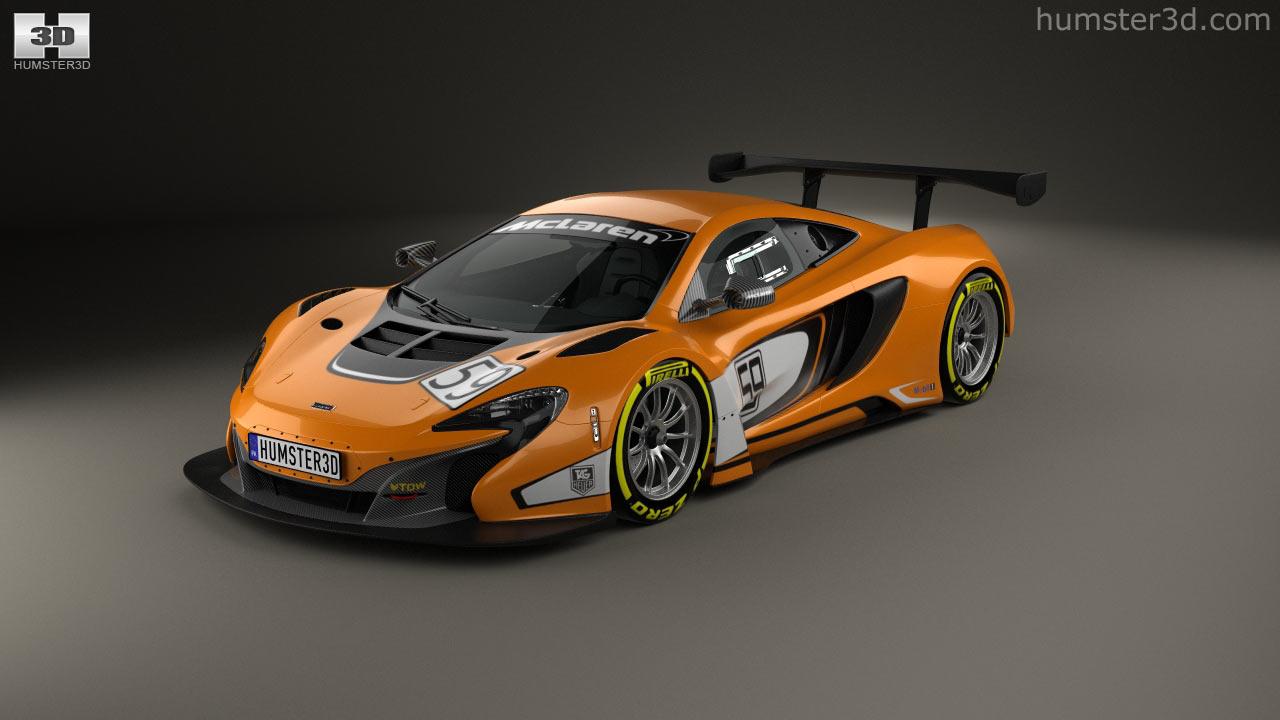 360 view of McLaren 650S GT3 2015 3D model - Hum3D store