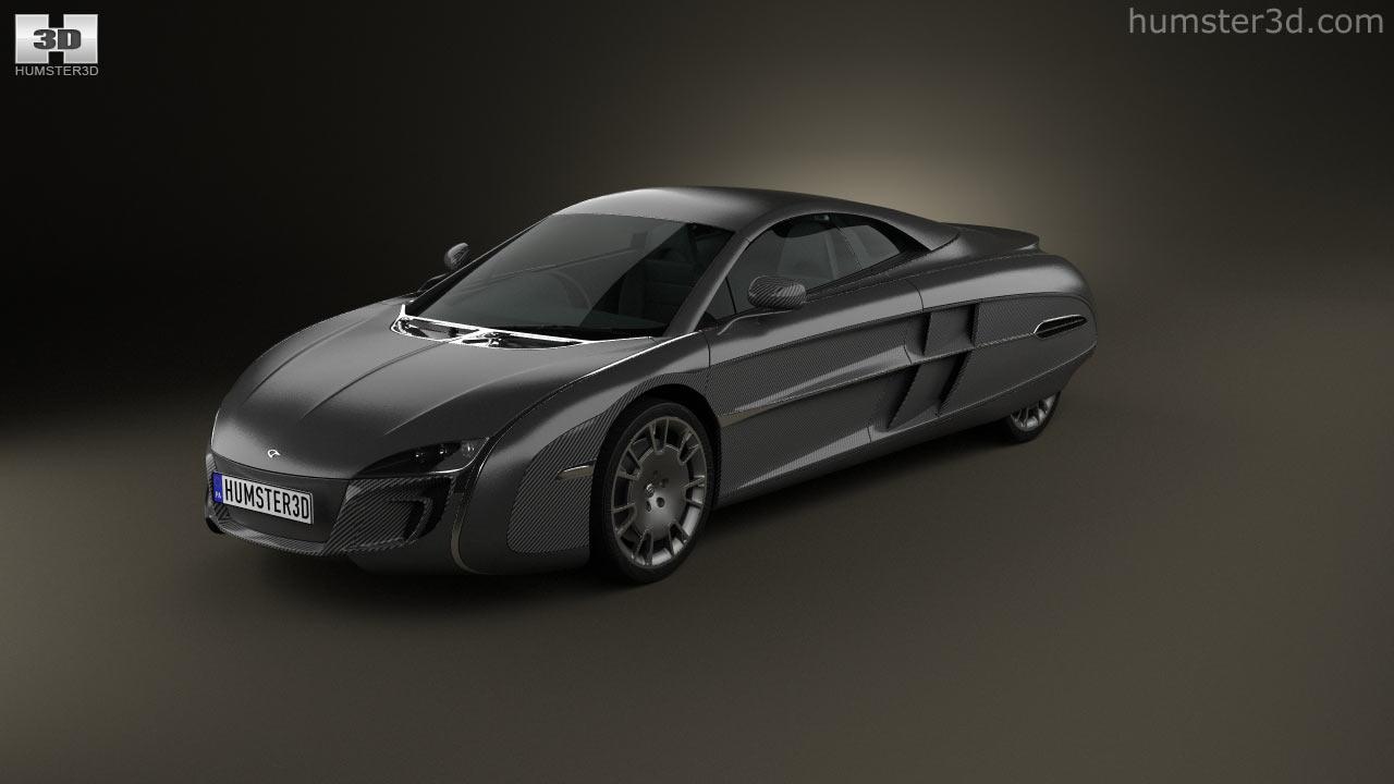 360 view of McLaren X-1 2012 3D model - Hum3D store