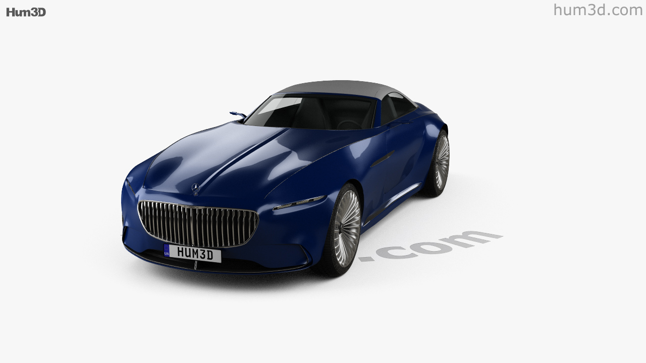360 view of Mercedes-Benz Vision Maybach 6 cabriolet 2017 3D model ...