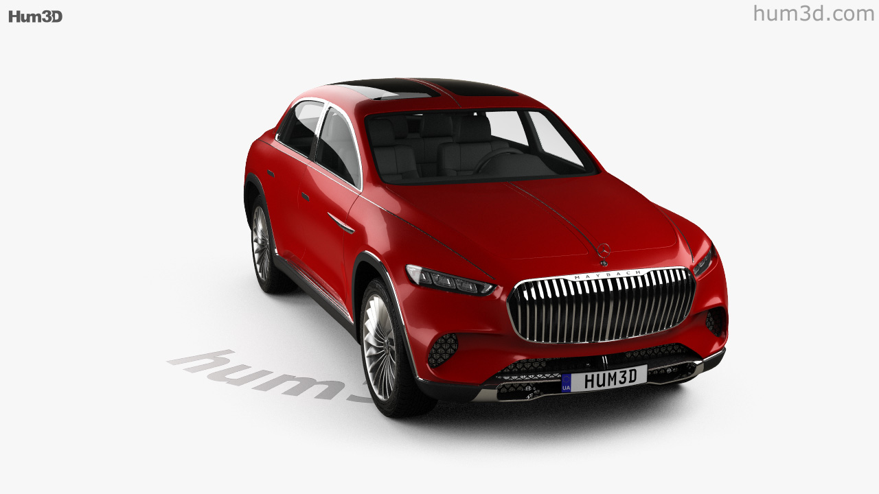 360 view of mercedes-benz vision maybach ultimate luxury 2018 3d