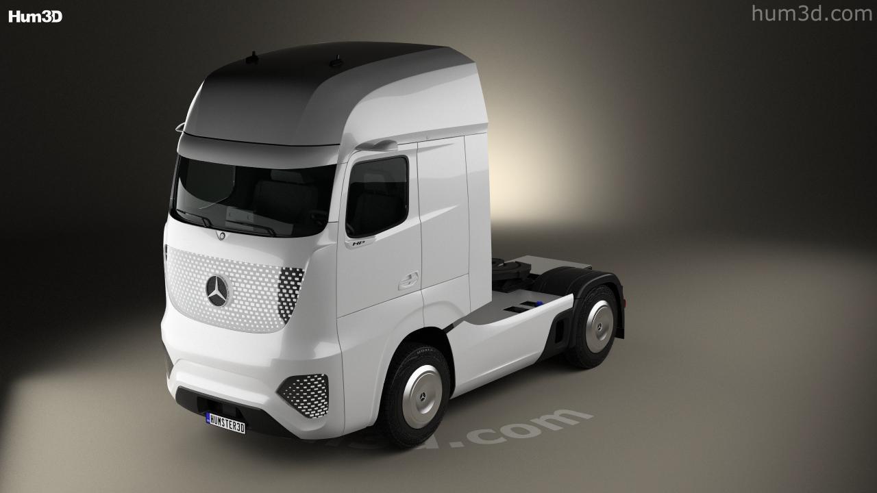 360 view of mercedes-benz future truck 2025 3d model - hum3d store