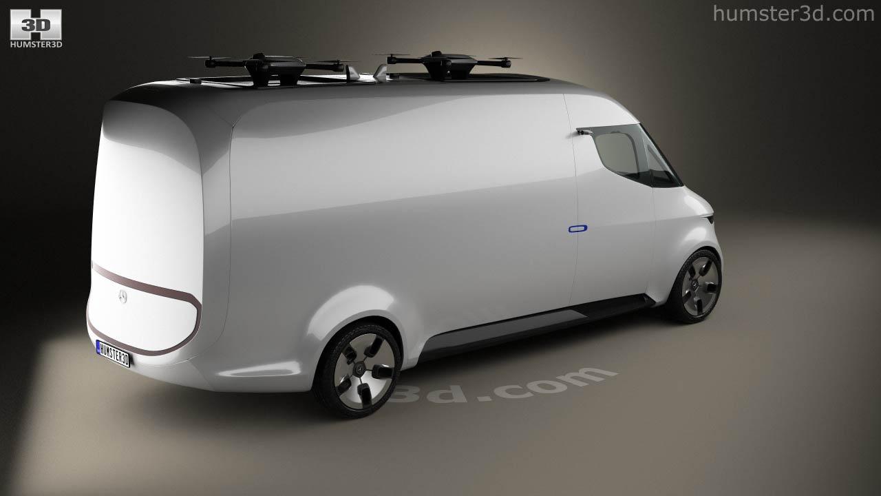 360 view of Mercedes-Benz Vision Van 2016 3D model - Hum3D store