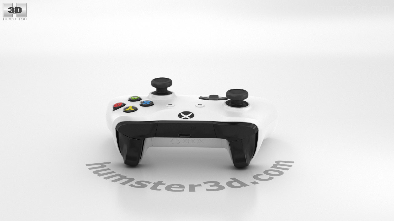 360 view of Microsoft Xbox One S Controller 3D model - Hum3D store