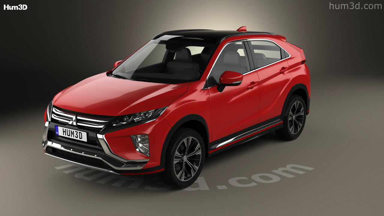 360 View Of Mitsubishi Eclipse Cross 2017 3d Model Hum3d Store
