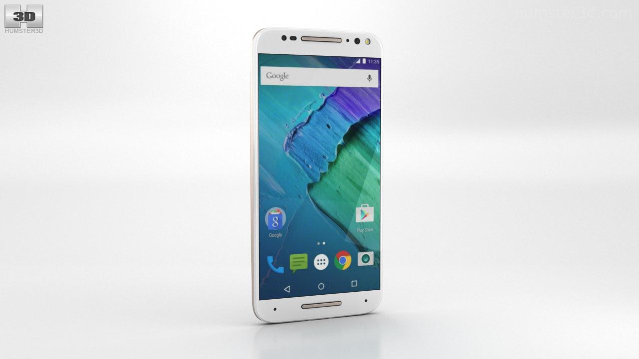 360 view of Motorola Moto X Style White 3D model - Hum3D store