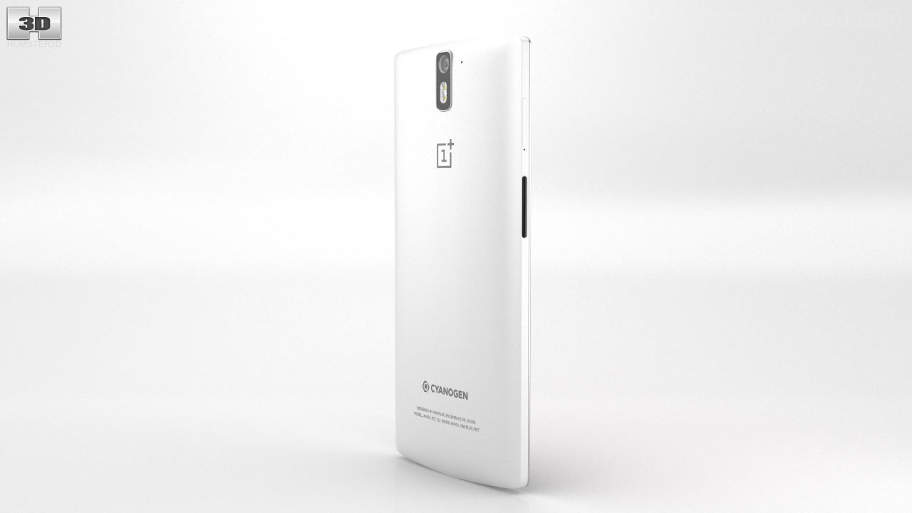 buy online c6486 4665a 360 view of OnePlus One Silk White 3D model - Hum3D store
