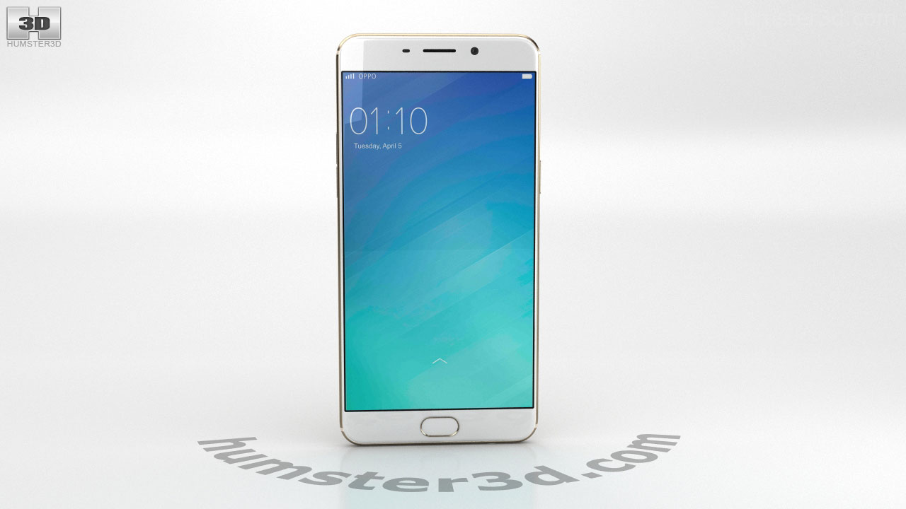 360 View Of Oppo F1 Plus Gold 3d Model Hum3d Store