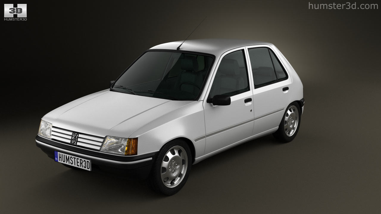 360 view of peugeot 205 5-door 1998 3d model - hum3d store