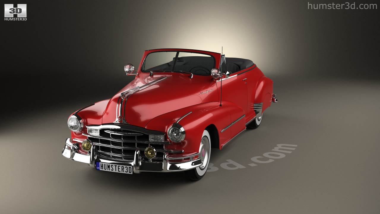 360 View Of Pontiac Torpedo Eight Deluxe Convertible 1948 3d Model