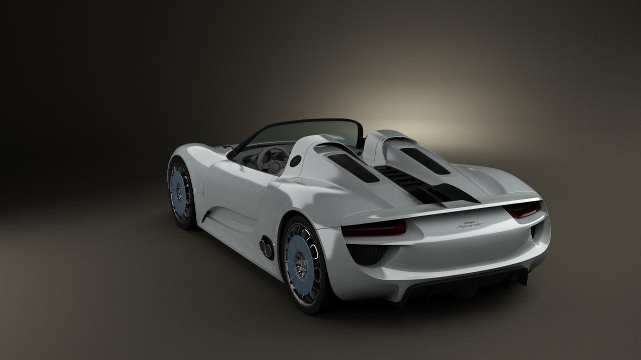 360 View Of Porsche 918 Spyder 2011 3d Model Hum3d Store
