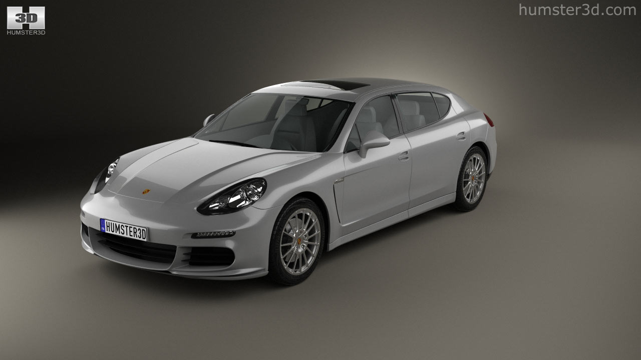 360 view of porsche panamera turbo executive 2014 3d model hum3d store