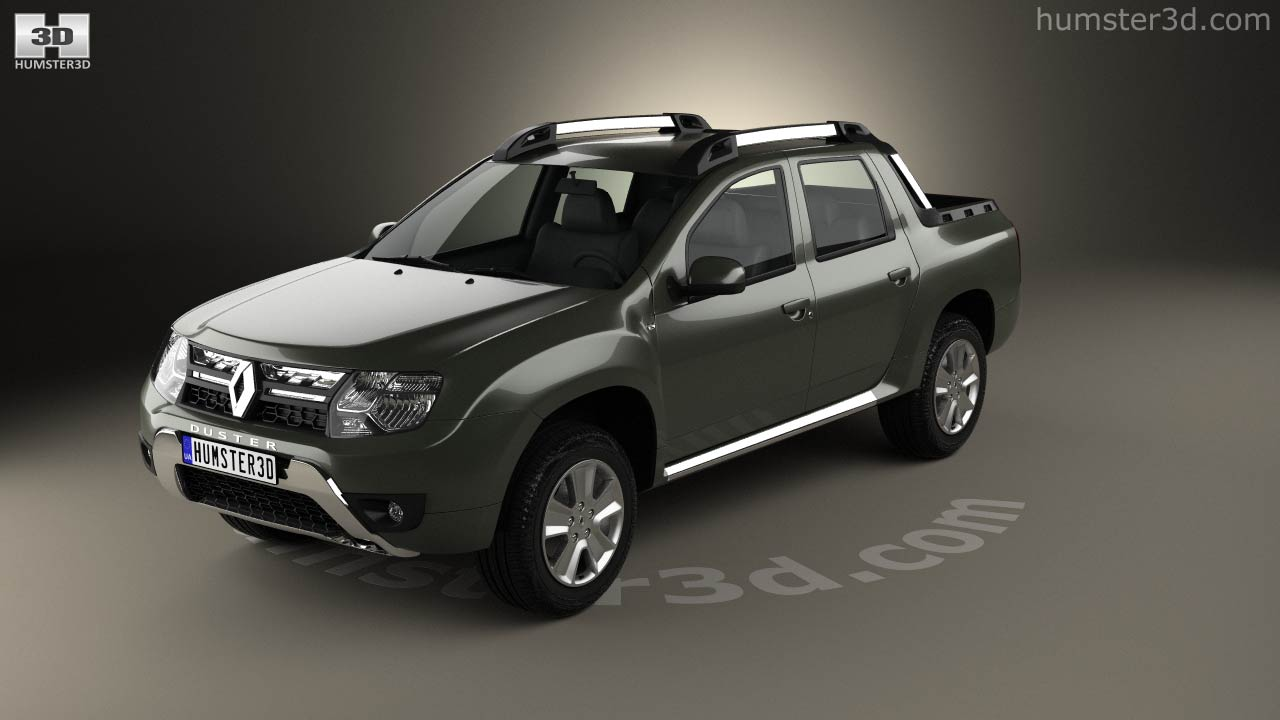 360 View Of Renault Duster Oroch 2015 3d Model Hum3d Store