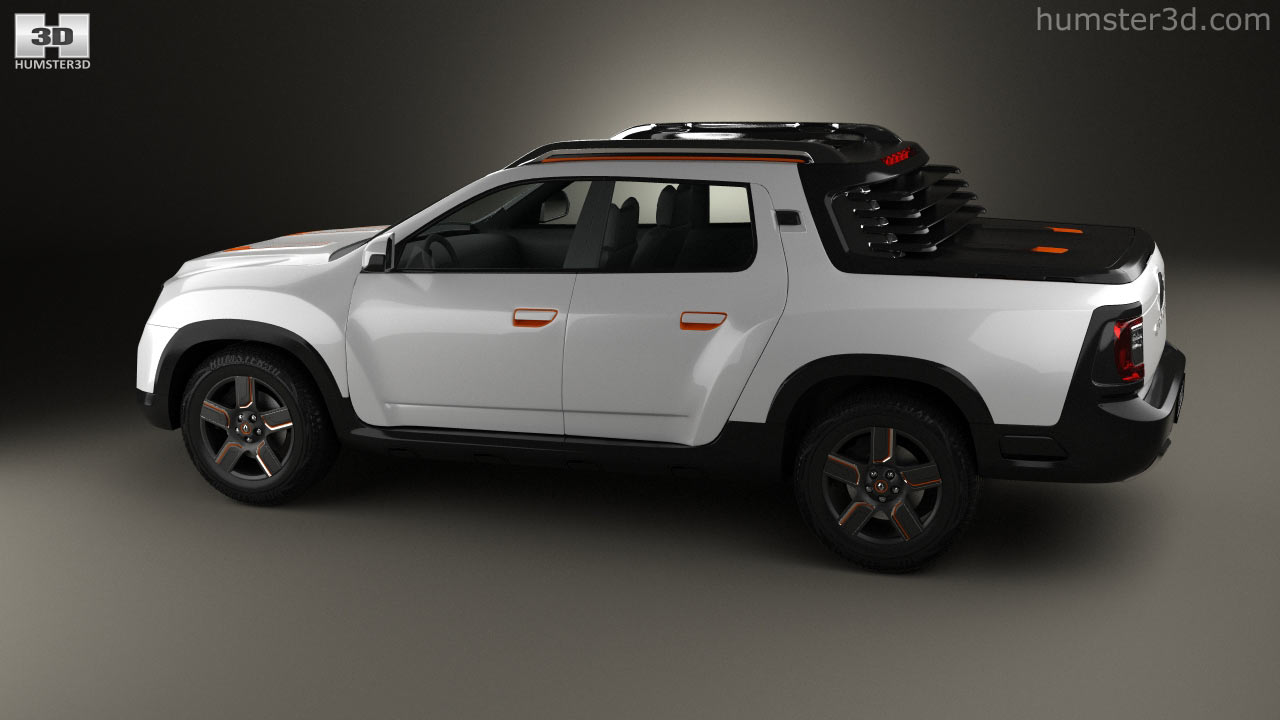 360 View Of Renault Duster Oroch Concept 2015 3d Model Hum3d Store