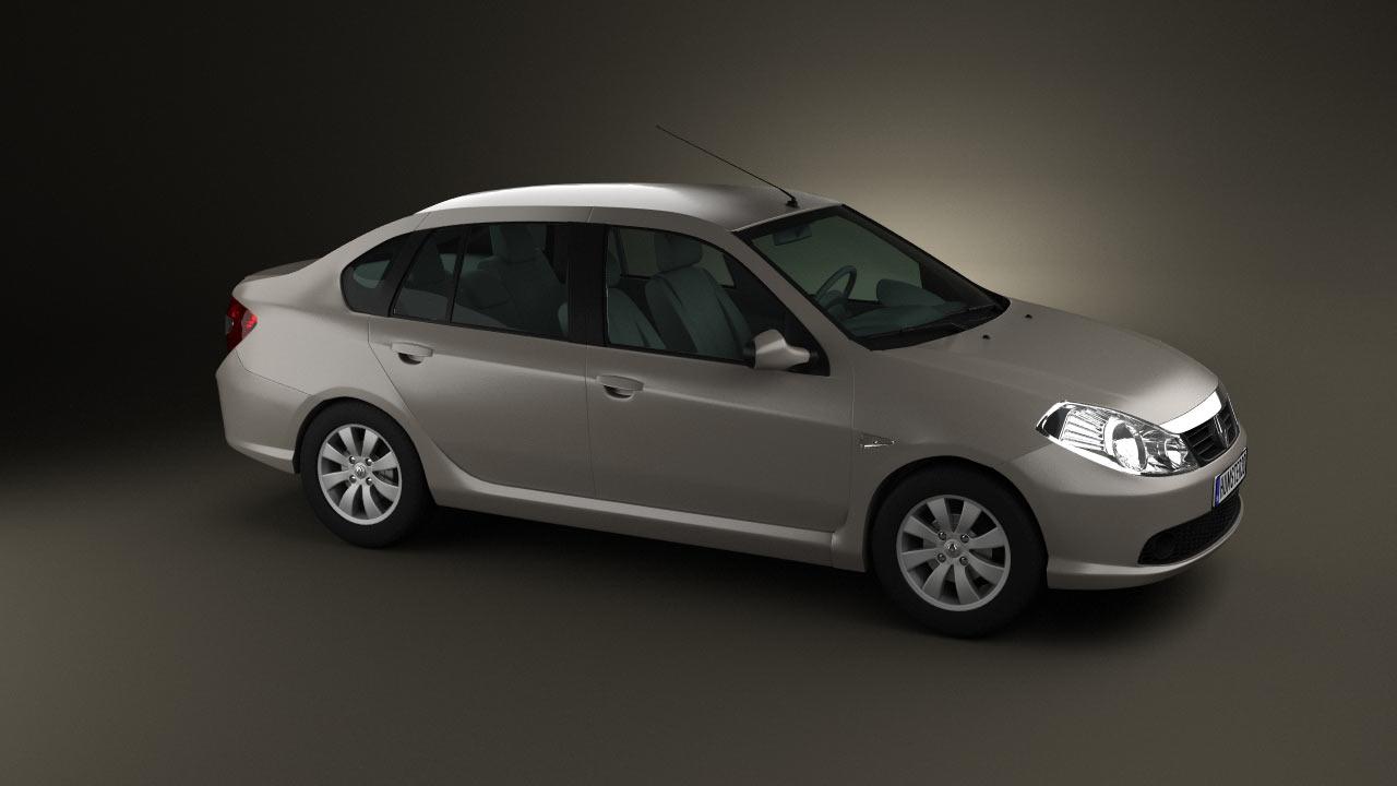 360 View Of Renault Symbol 2010 3d Model Hum3d Store