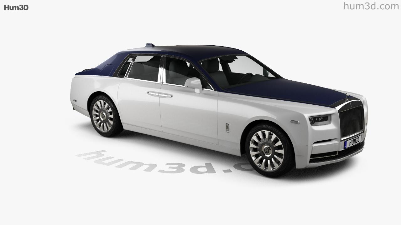 360 View Of Rolls Royce Phantom 2018 3d Model Hum3d Store