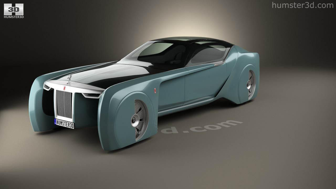 360 view of rolls-royce 103ex vision next 100 2016 3d model - hum3d