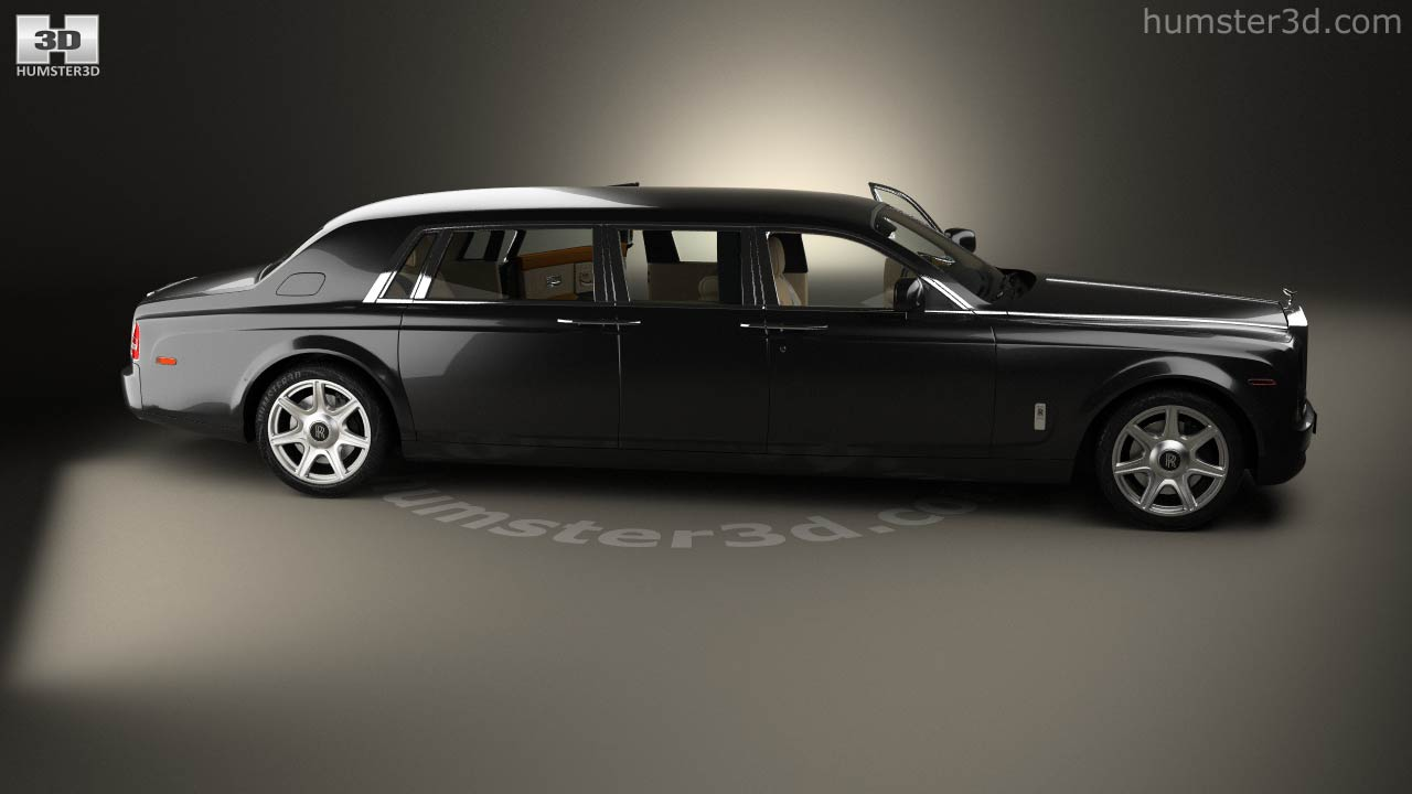 Lovely Rolls Royce Phantom Mutec With HQ Interior 2012 3d Model
