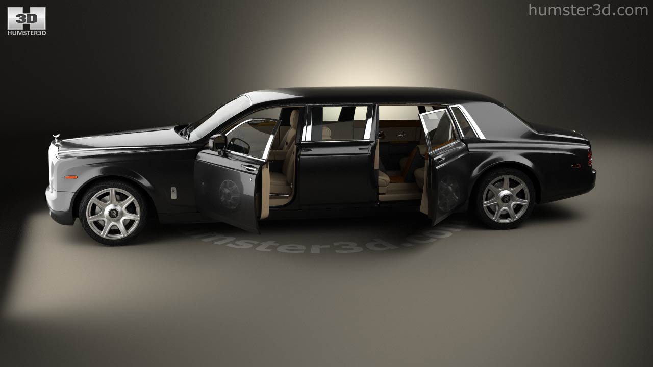 rolls royce phantom mutec with hq interior 2012 3d model