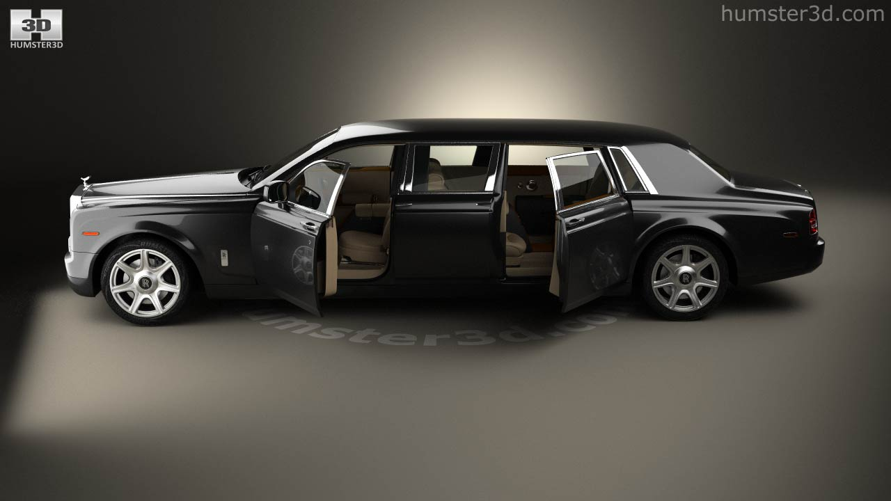 Amazing Rolls Royce Phantom Mutec With HQ Interior 2012 3d Model