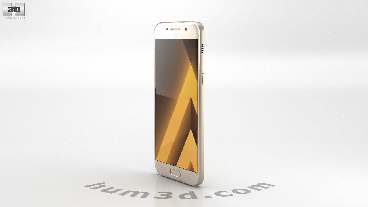 360 View Of Samsung Galaxy A5 2017 Gold Sand 3d Model Hum3d Store