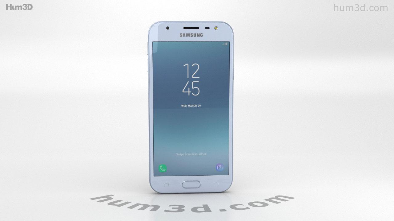 360 view of Samsung Galaxy J3 (2017) Blue 3D model - Hum3D store