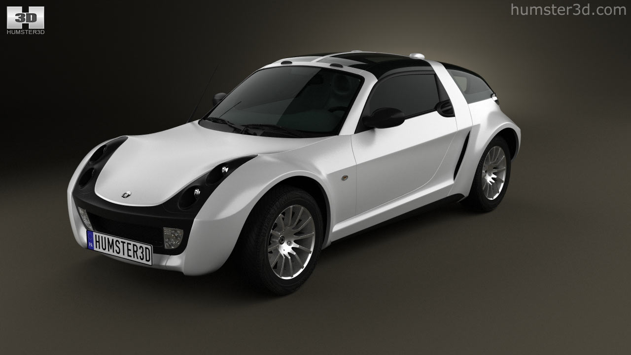 360 view of Smart Roadster Coupe 2005 3D model - Hum3D store