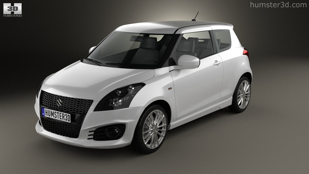 360 view of Suzuki Swift Sport hatchback 3-door 2014 3D model ...