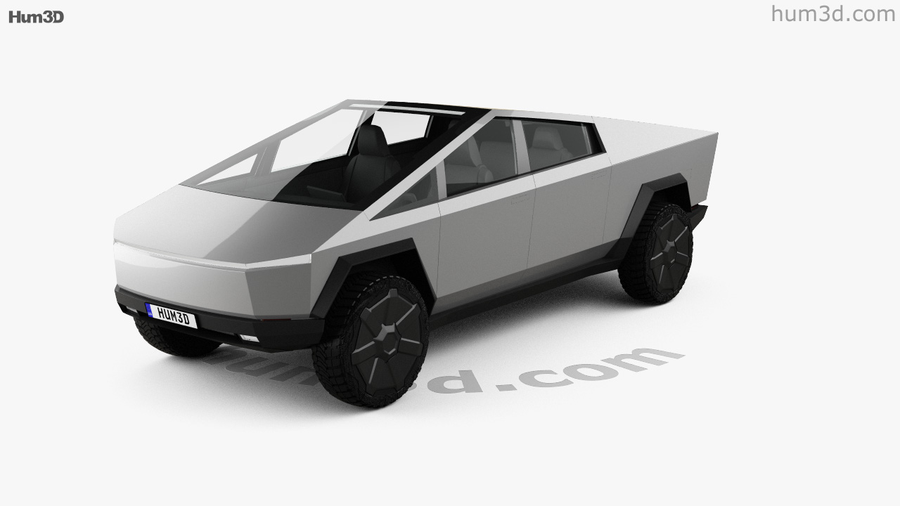 360 View Of Tesla Cybertruck 2019 3d Model Hum3d Store