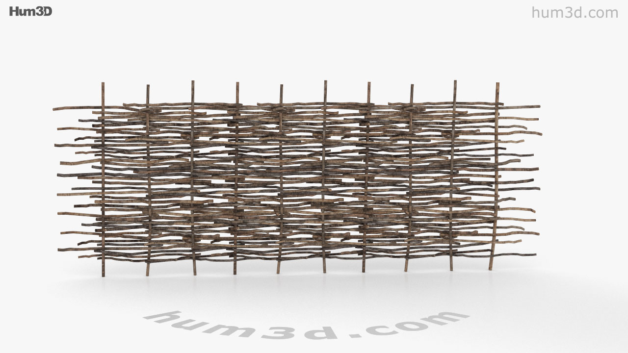 360 view of Wattle Fence 3D model - Hum3D store