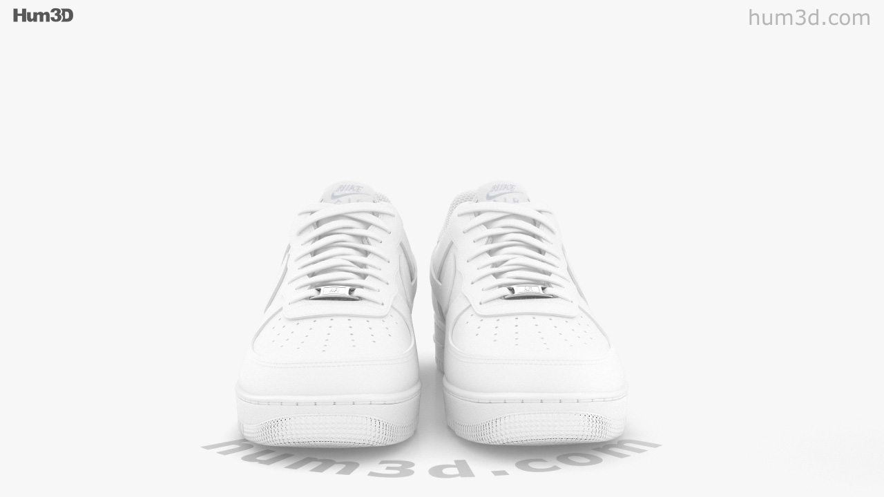 360 view of Nike Air Force 1 3D model - Hum3D store