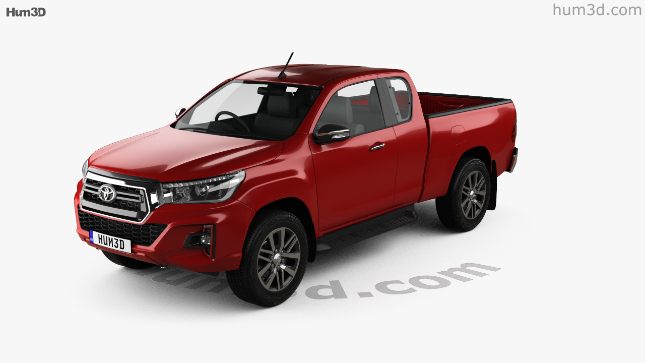360 View Of Toyota Hilux Extra Cab Raider 2019 3d Model Hum3d Store