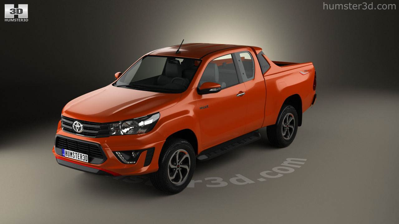 360 View Of Toyota Hilux Double Cab Revo Trd Sportivo 2016 3d Model Hum3d Store