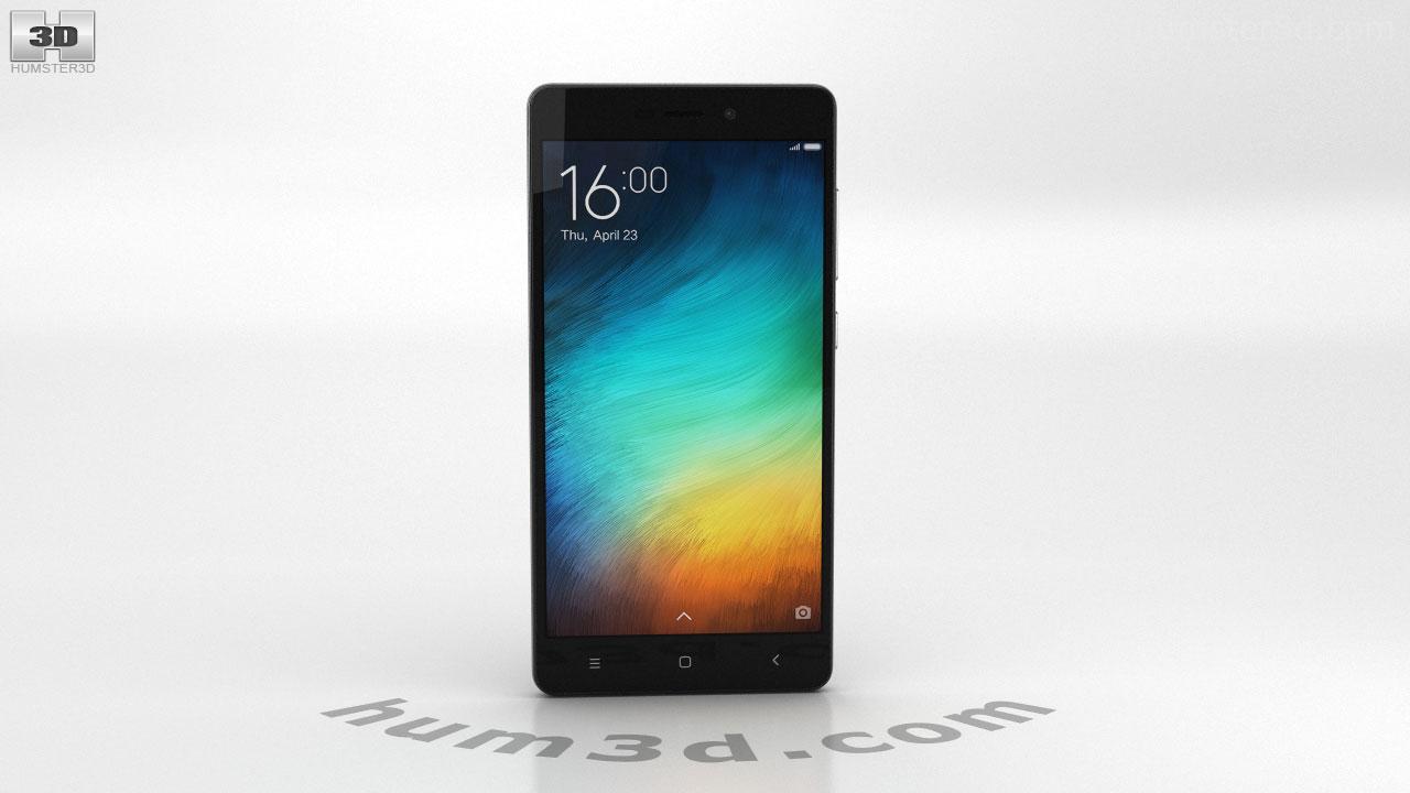 360 View Of Xiaomi Redmi 3 Pro Dark Gray 3d Model Hum3d Store
