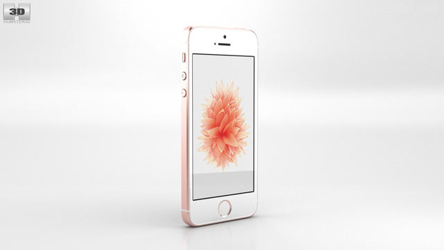 Apple Iphone Se Rose Gold 3d Model Electronics On Hum3d