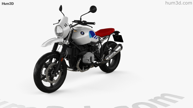 360 view of BMW R nineT Urban GS 2017 3D model - Hum3D store