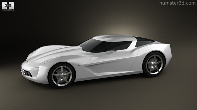 Chevrolet Stingray Concept 2009 3d Model Hum3d