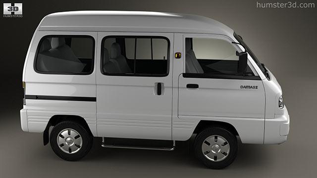 Daewoo Damas 2012 3D model - Hum3D