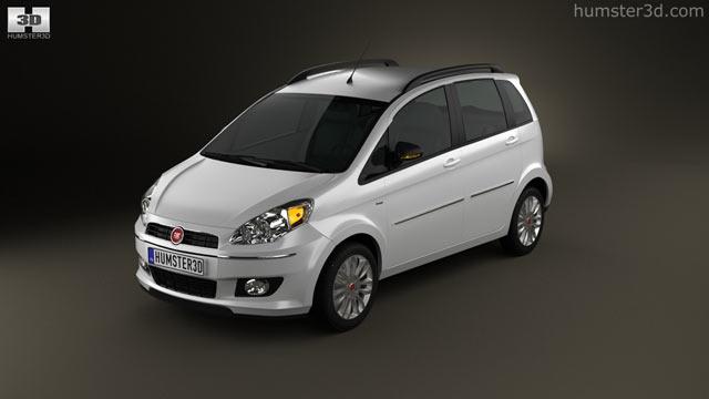 Fiat Idea 2012 3d Model Hum3d