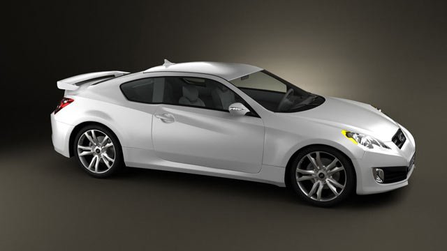 Amazing Hyundai Genesis Coupe 2011 3D Model   Hum3D