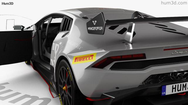 Lamborghini Huracan Super Trofeo With Hq Interior 2014 3d Model