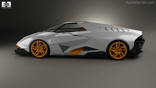 Lamborghini Egoista 2013 3D Model   Hum3D