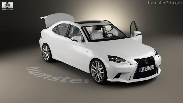 Lexus IS (XE30) F Sport With HQ Interior 2013 3D Model   Hum3D