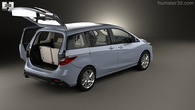 Mazda 5 With HQ Interior 2010 3D Model   Hum3D