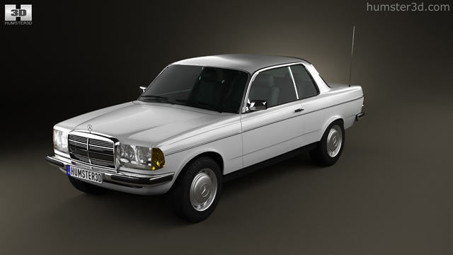 360 view of Mercedes-Benz E-Class W123 coupe 1975 3D model