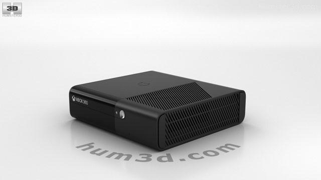 360 view of Microsoft Xbox 360 E 3D model - Hum3D store
