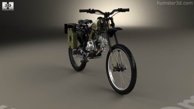 Motoped Survival Bike 2016 3D model - Hum3D