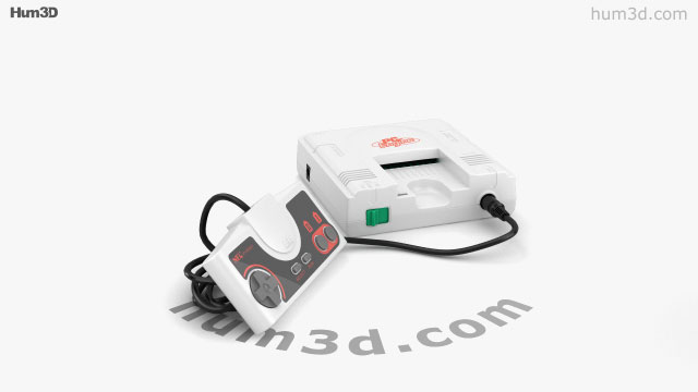 360 view of NEC PC Engine 3D model - Hum3D store