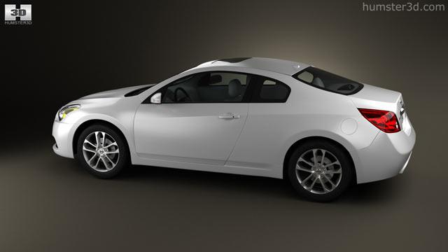 Amazing Nissan Altima Coupe 2012 3D Model   Hum3D